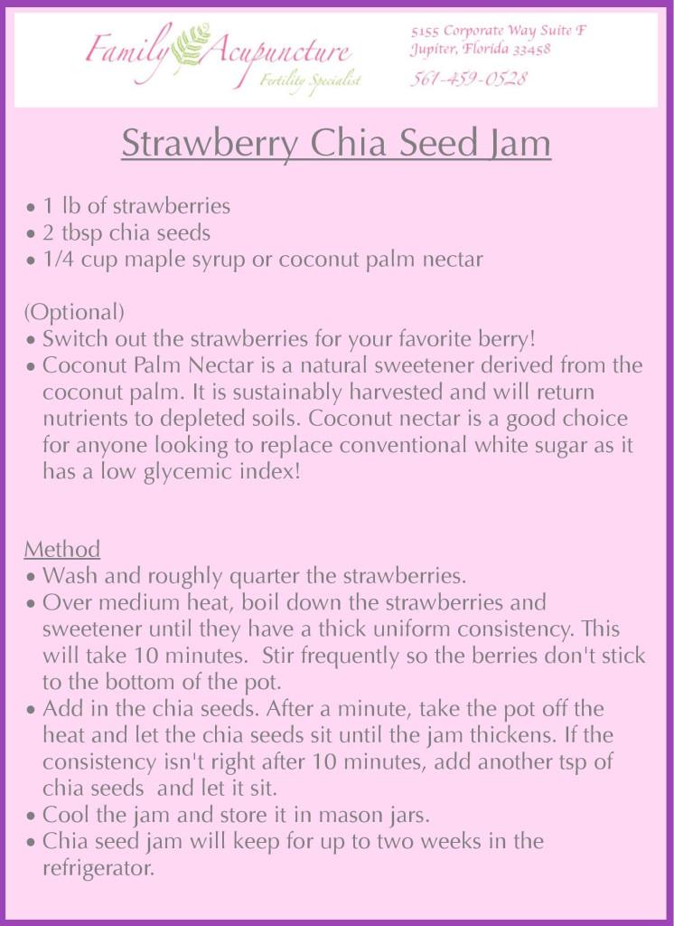 Chia Seed Jam receipt